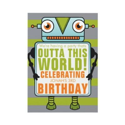 Check out this adorable robot birthday party invitation unique check out this adorable robot birthday party invitation unique and creative a filmwisefo Gallery