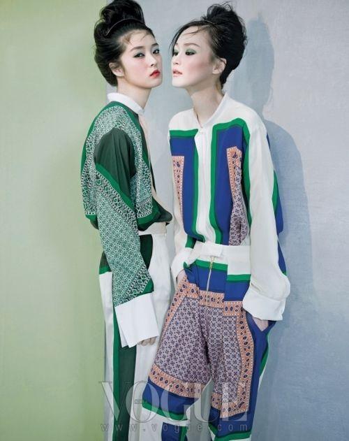 So Young Kang and Lee Hye Jung for Vogue Korea