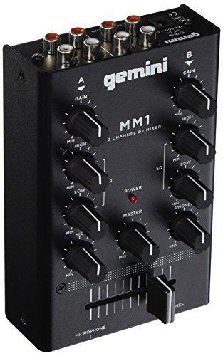 News Gemini MM1 2-Channel DJ Mixer buy now $41.95 Gemini MM1 2-Channel Compact Mixer6.5, 2-channel stereo mixer 2 line RCA inputs 2-band rotary EQ with Gain controlScre... http://showbizmusic.com/gemini-mm1-2-channel-dj-mixer/