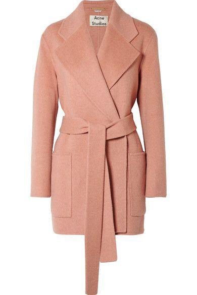 Acne Studios - Anika Belted Wool And Cashmere-blend Coat - Antique rose  Manteau, 6df76baf24a