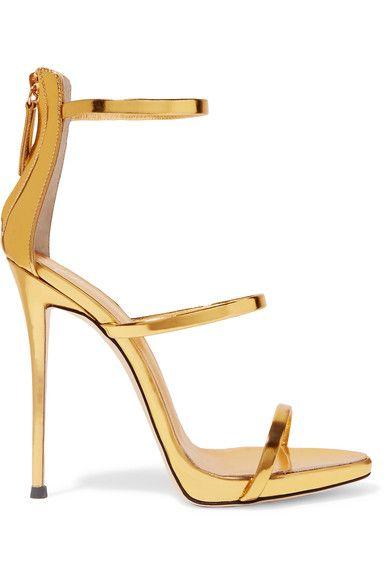 8ced8c8e1af Giuseppe Zanotti Metallic leather sandals   SHOP in link