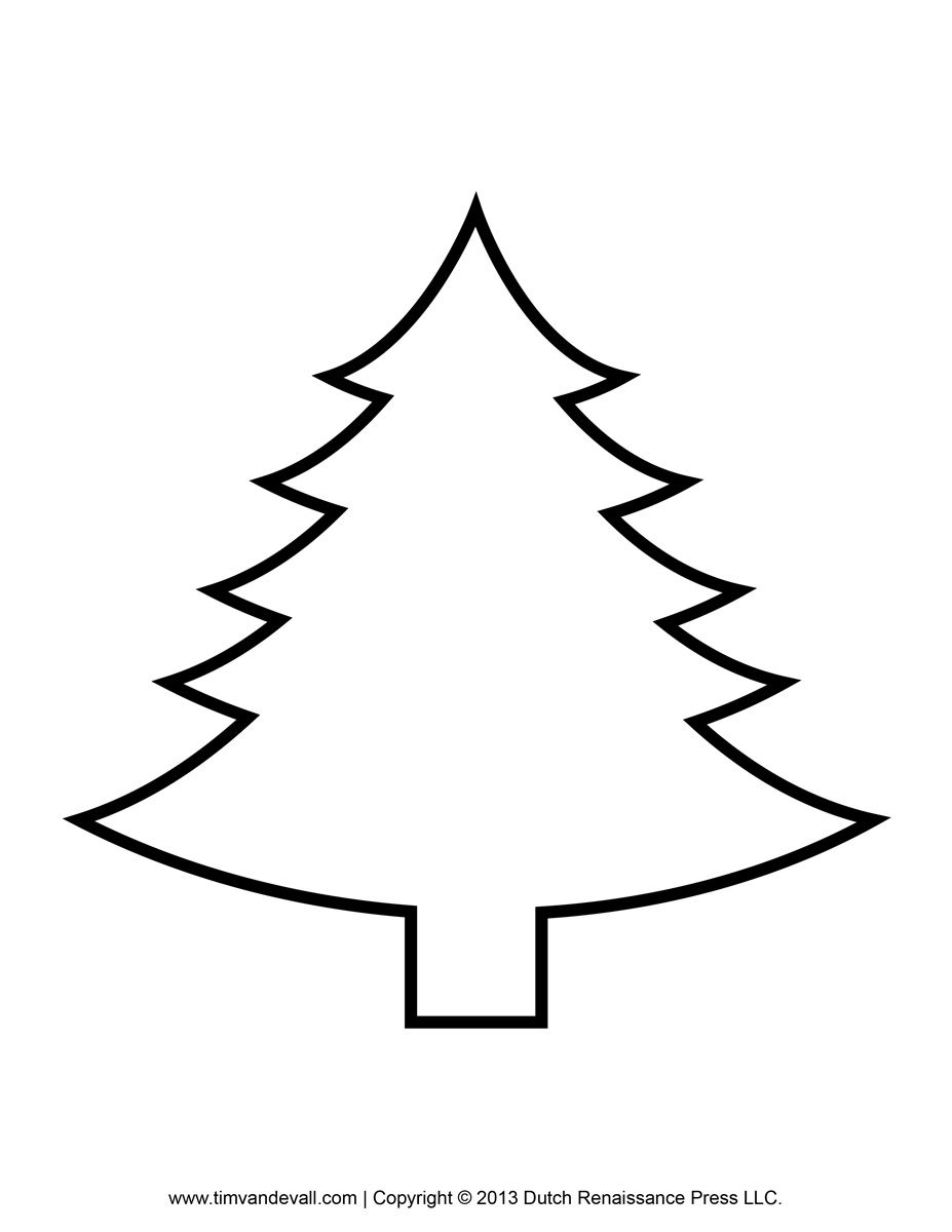 Printable Paper Christmas Tree Template Clip Art Coloring ...