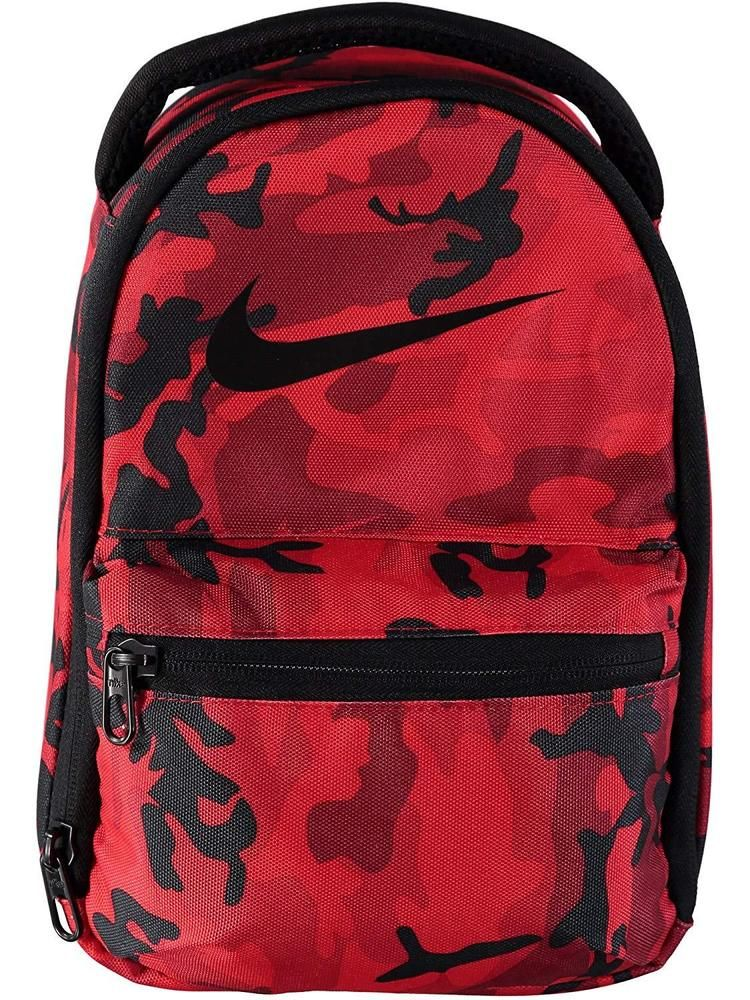Nike Kids Womens Brasilia Fuel Pack School Lunch Tote Bag (Red Camo Crush)   NIKE  backtoschool  kids  backpack  backpacks  school  college  boys  girls    ... 995eb05d27184