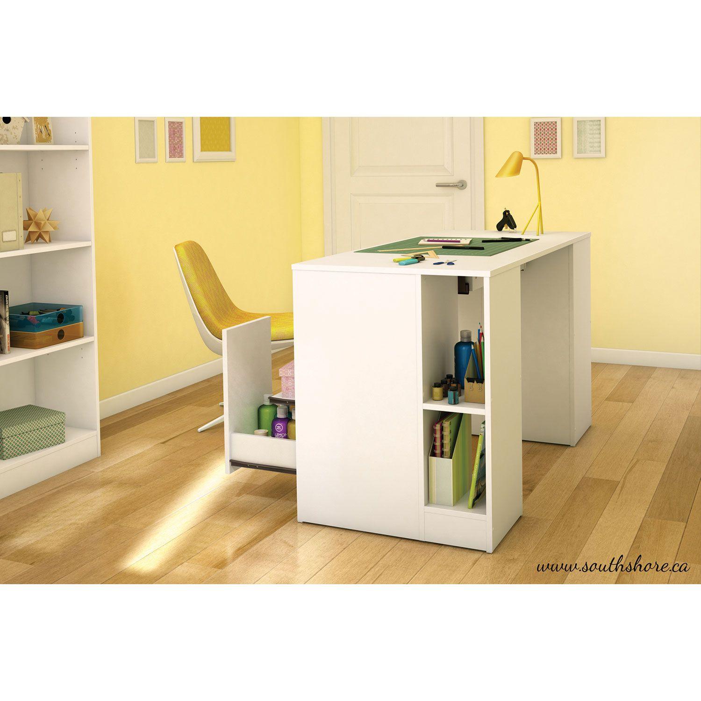 Pupitre Contemporain Crea Blanc Pur Bureaux Et Postes De Travail Best Buy Canada Craft Table Home Office Furniture Furniture