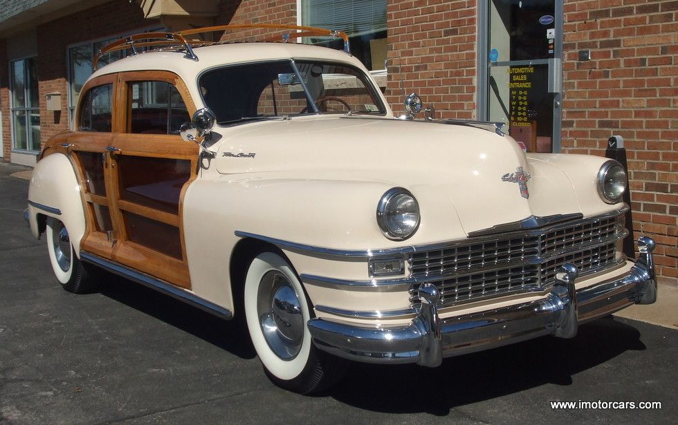 47 Chrysler Town Country Woody Sedan Only 2752 Built Luggage