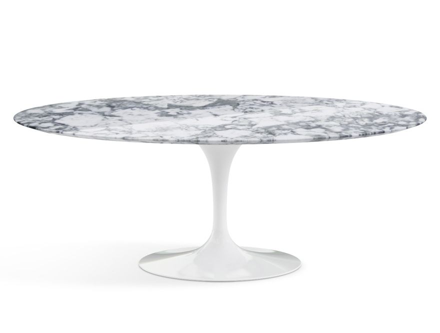 KNOLL table ovale TULIP collection Eero Saarinen 198x121cm (Base ...