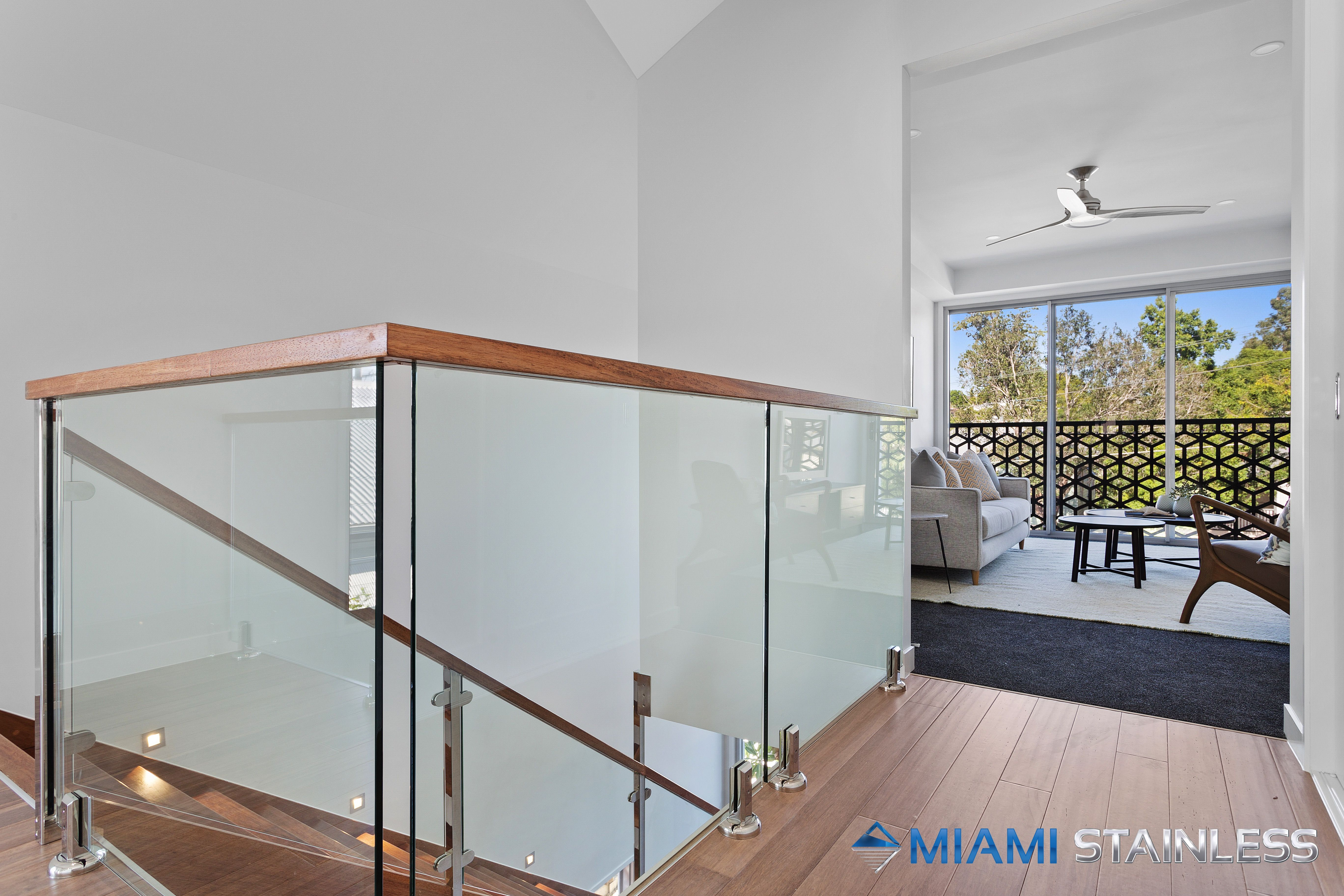 Glass Staircase And Void Balustrade Interior Balcony Glass | Glass Balustrade Internal Stairs | Pattern Glass | Glass Balustrading | Handrail | Cast Glass | Landing