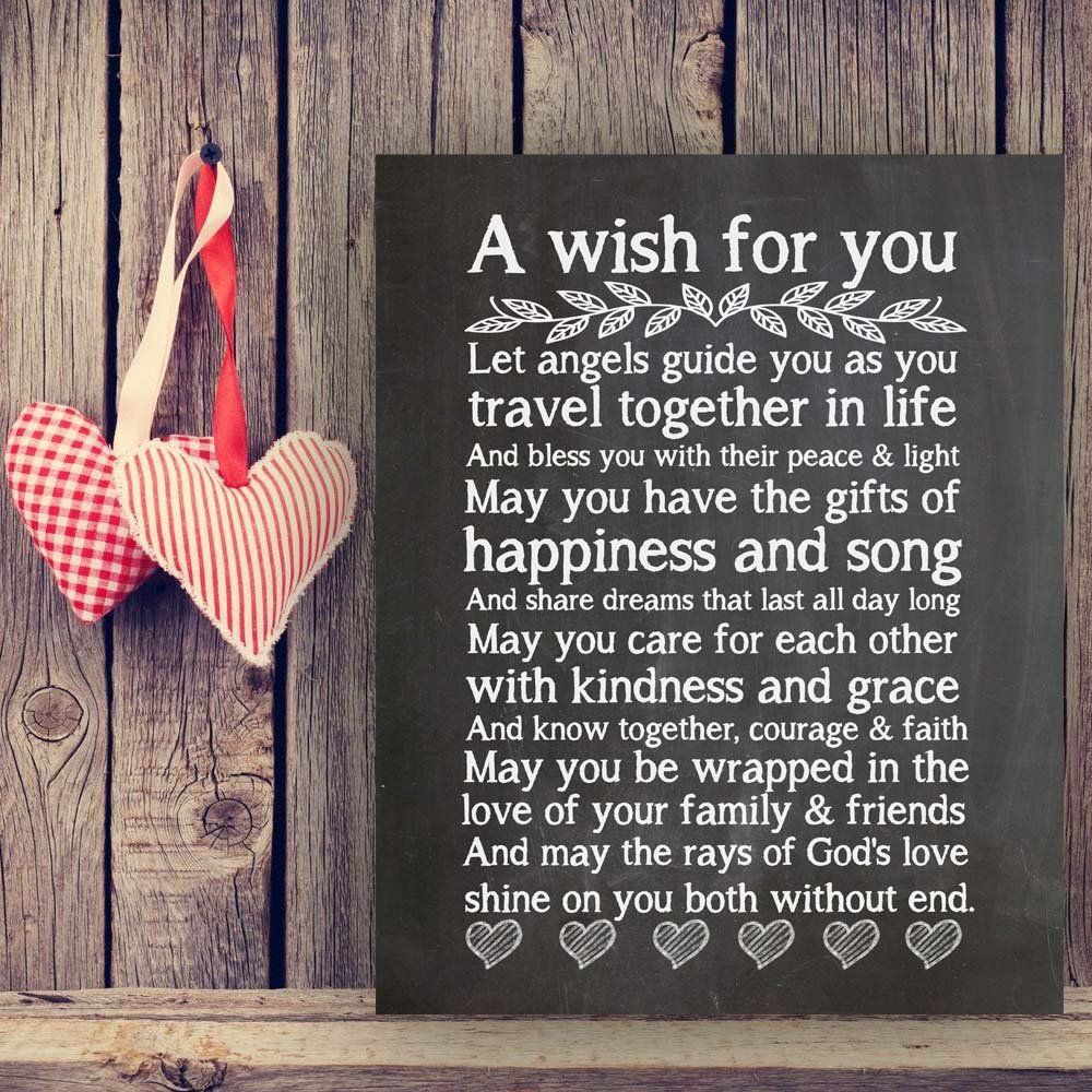A wish for you quote wedding gift wedding wishes quotes