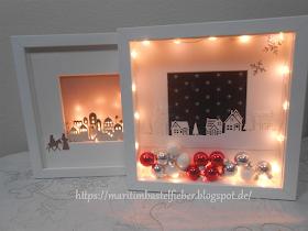 Marita´s Bastelzimmer: weihnachtliche Ribba Rahmen #weihnachtenikea
