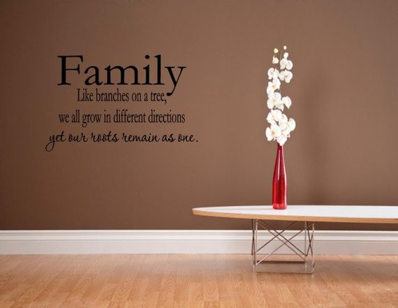 vinyl wall words quotes and sayings #0262 family like branches on a