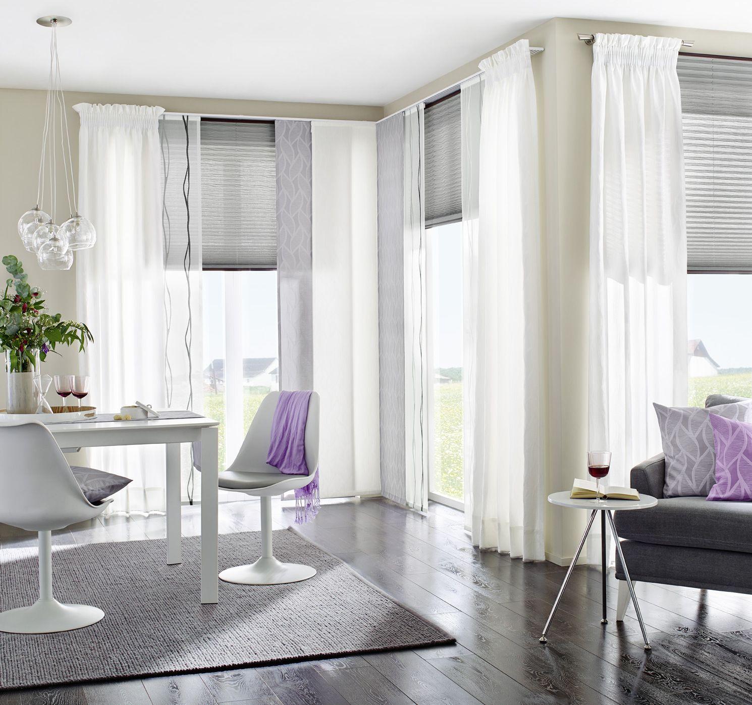 gardinen wohnzimmer plissee | ideen für jugendzimmer mit ...