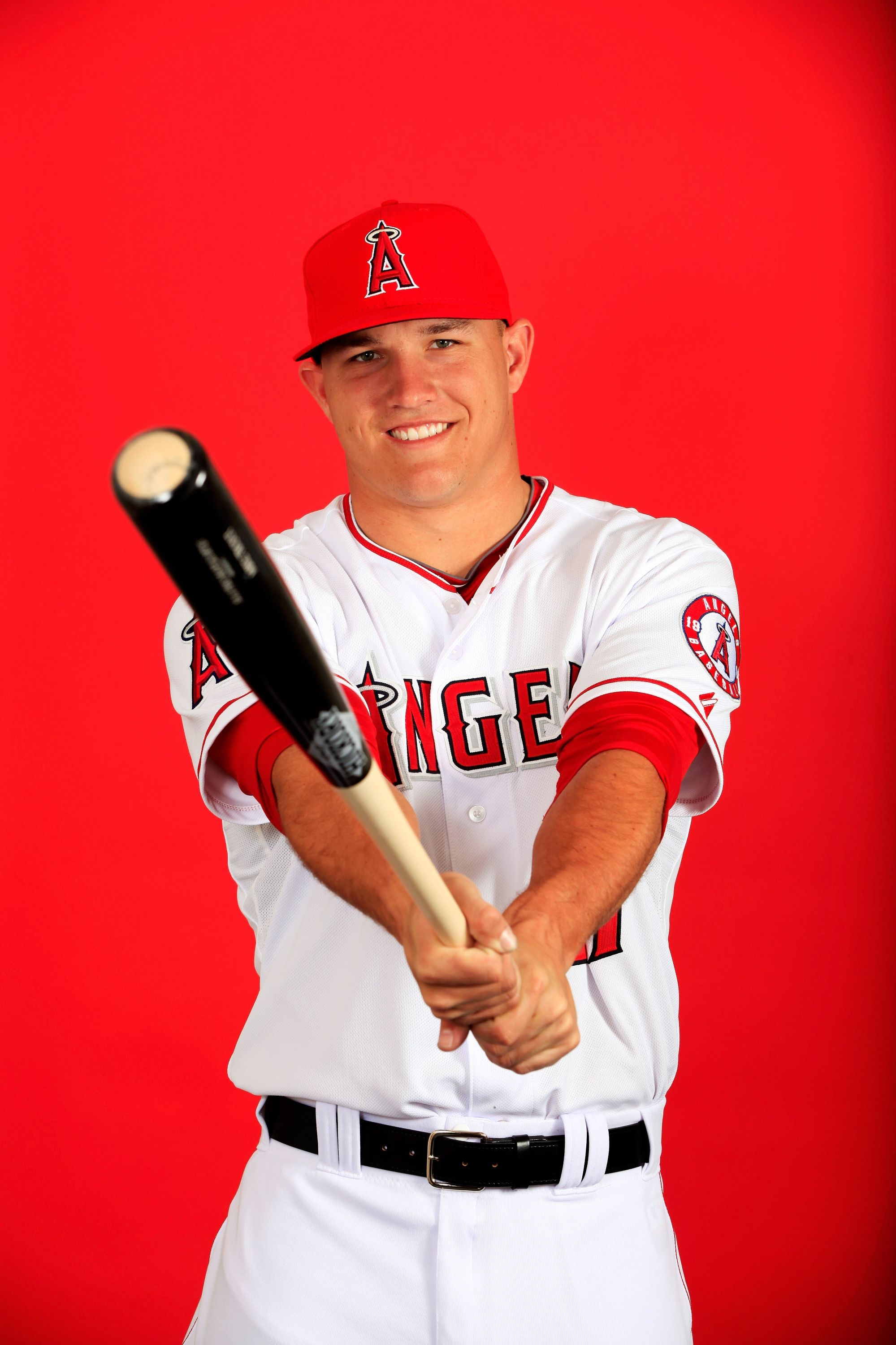 Mike Trout Photos Photos Los Angeles Angels Photo Day Mike Trout Famous Baseball Players Los Angeles Angels
