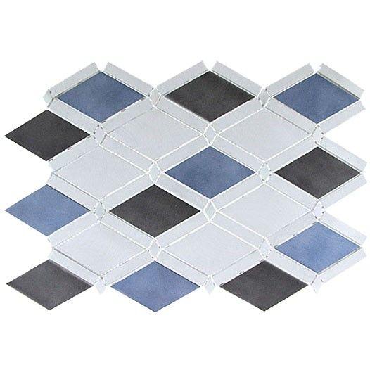 Sleek Ceylon Diamond Blue Brushed Aluminum Tile Metal Tile Backsplash Stainless Steel Tile Metal Tile