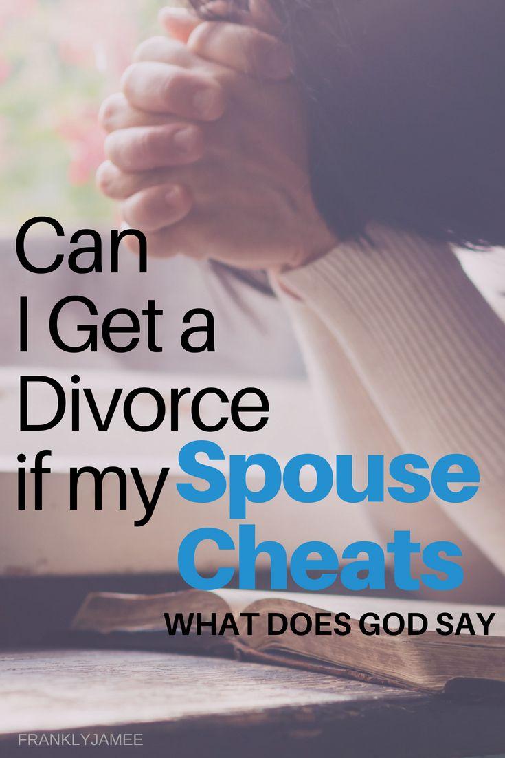 Divorce if spouse cheats