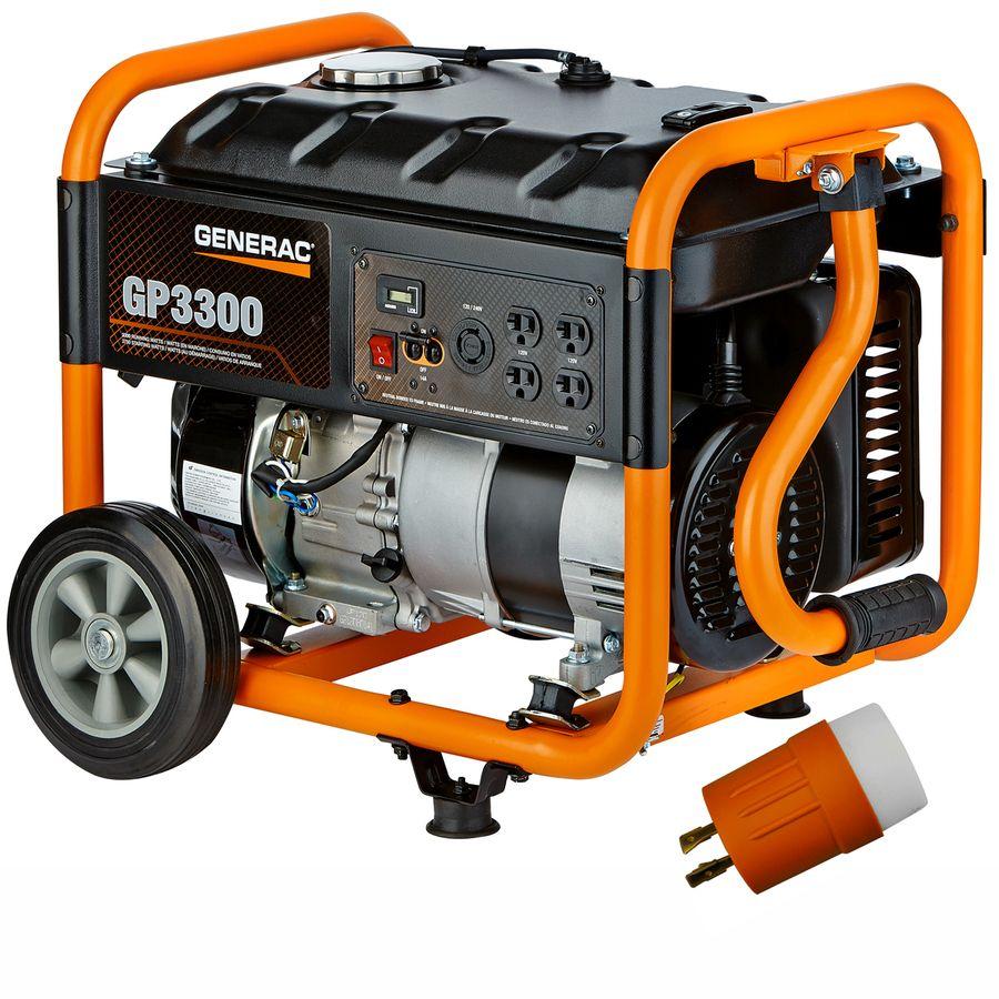 Generac Gp 3750 Watt Gasoline Portable Generator Lowes Com Portable Generator Portable Inverter Generator Portable Power Generator