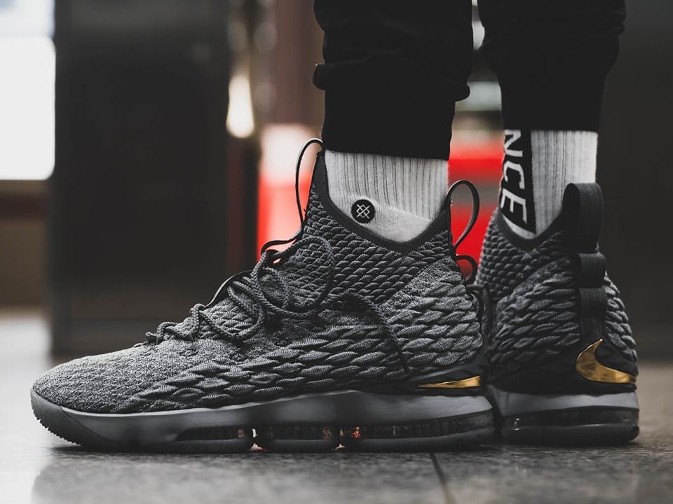 Nike Lebron 15  City Edition  - Wolf Grey Metallic Gold - 2017 (by Tresor  Temuni) Sneakers greatly benefit from shoe trees related to care 72da9cd56