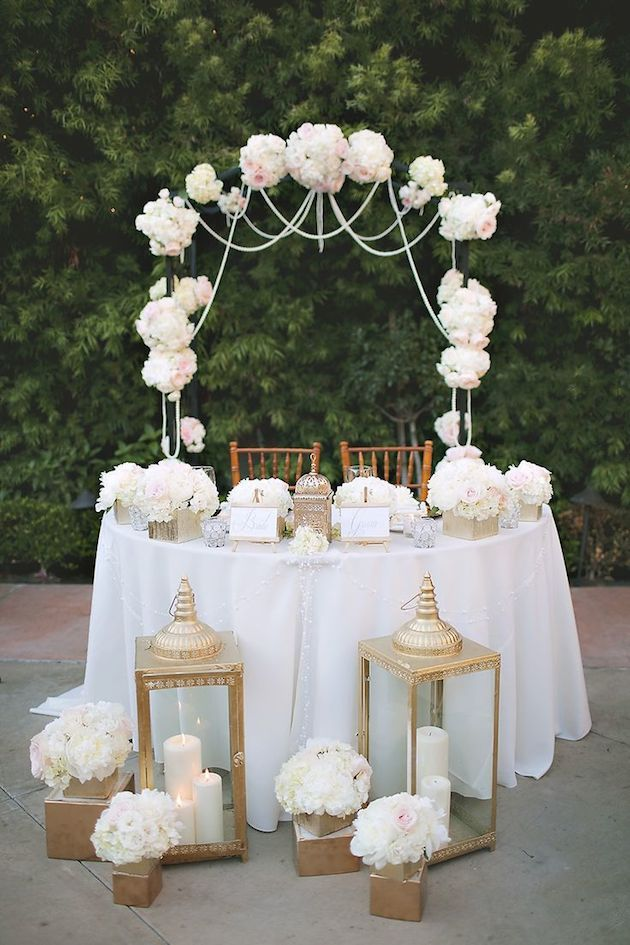 Sweetheart Table Inspiration | Sweetheart & Head Table ...