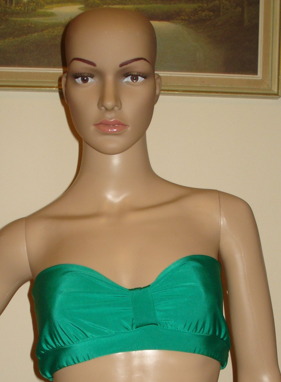1274bc924a3ade Emerald Green Bandeau Top Bikini Tube Top Crop Top Tube Top Bikini Top Boob  Tube by stitchawayrose on Etsy
