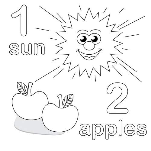 Coloring Pages For Young Learners : Count and color worksheet  free printable
