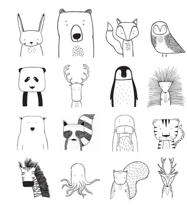 Des Animaux Tier Doodles Zeichnung Zeichnungen