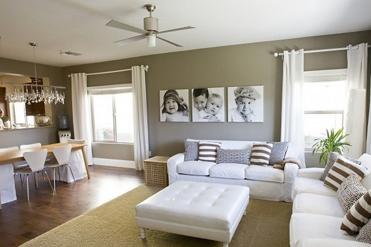 sweet-living-room-with-chic-picture-frame-ideas | Homes | Pinterest ...