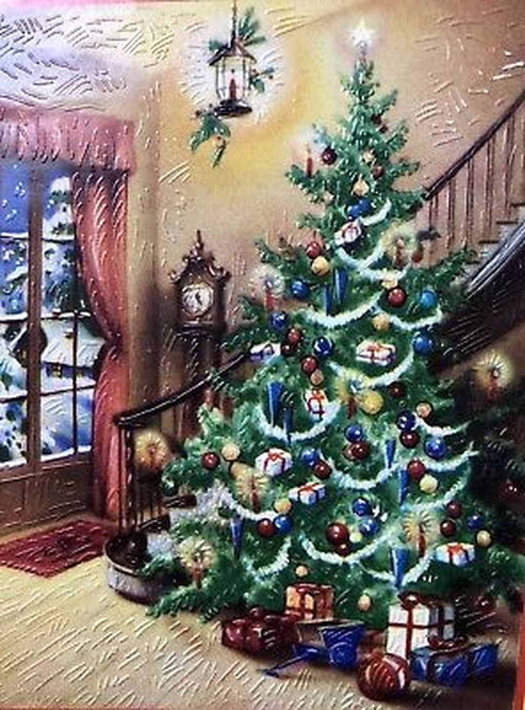 Awesome 50 Pretty Vintage Christmas Tree Ideas Christmastrees Christmas Tree Drawing Vintage Christmas Tree Christmas Paintings
