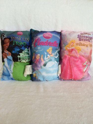 Disney Lot Of 3 Princess Pillow Books Cinderella Sleeping