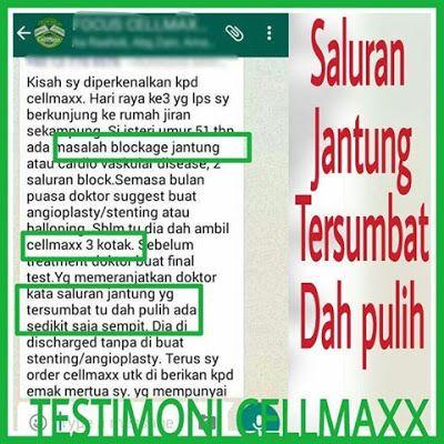 Cellmaxx Malaysia Cellmaxx Testimoni Saluran Jantung Tersumbat