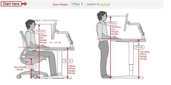 인체공학적 이상적인 의자높이 책상높이 키보드높이 모니터 높이와 거리 네이버 블로그 책상 높이 의자 높이 모니터