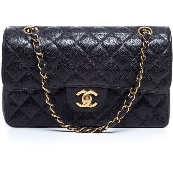 Chanel Pre Owned Black Caviar Small Double Flap Bag 376948201 3 989