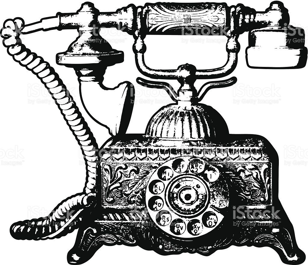 Old Telephone Clip Art, Vector Images & Illustrations