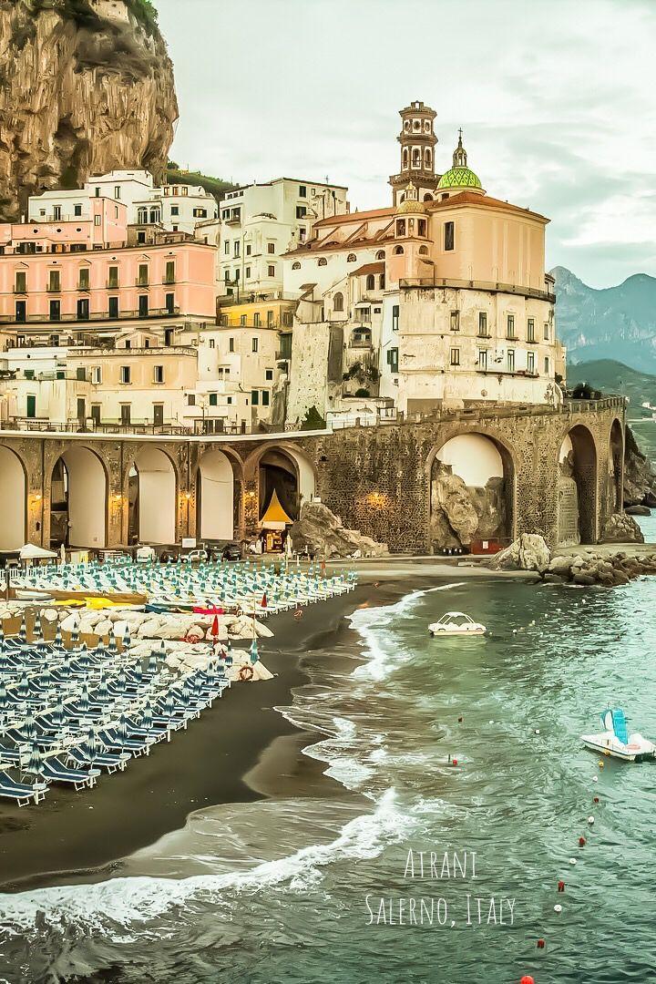 Atrani in Salerno, Italy. Atrani is a city and comune on ...