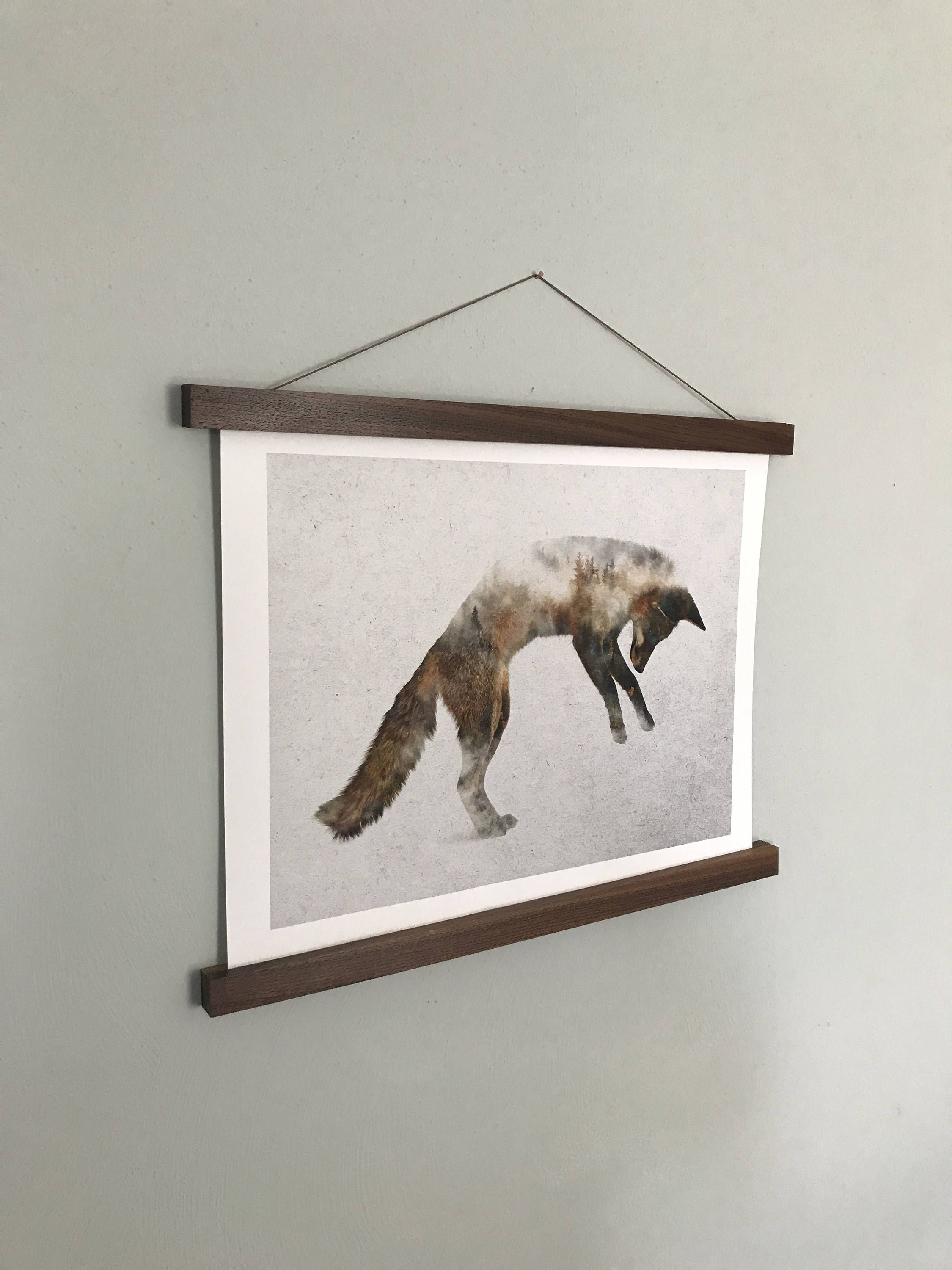 Poster Hanger, Print, Wall Hanging, Picture Frame, Wood Wall Art ...