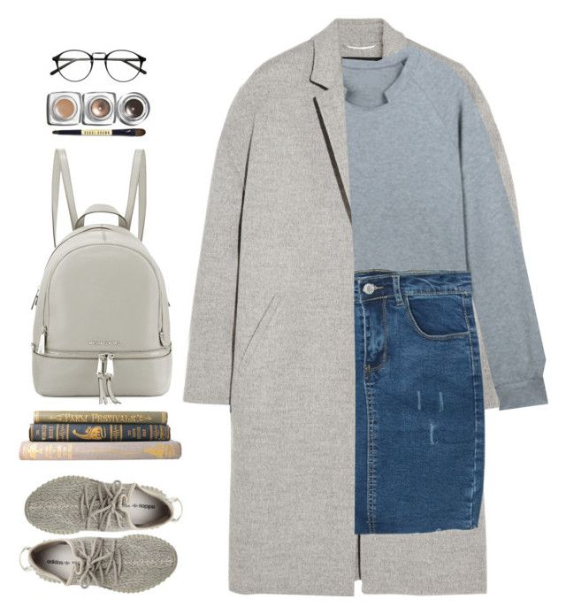 """""""Untitled #1361"""" by timeak ❤ liked on Polyvore featuring Rochas, adidas Originals, MICHAEL Michael Kors, Bobbi Brown Cosmetics and bhalo"""