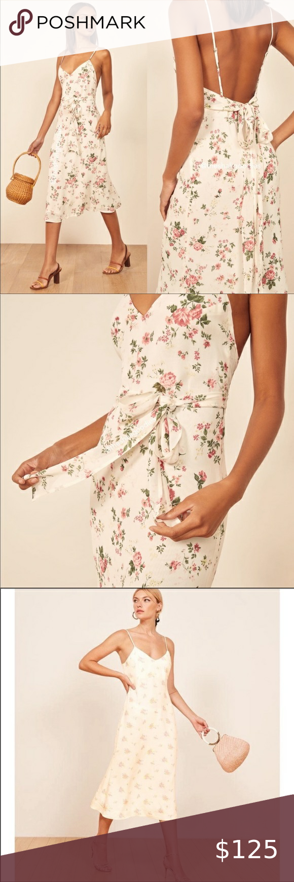 New Reformation Dietrich Floral Midi Dress 8 In 2021 Floral Midi Dress Plus Size Wedding Guest Dresses Dress Question [ png ]