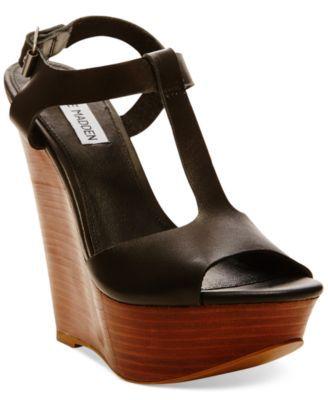 8a67e8c52e7 Steve Madden Women s Bittles Platform Wedge Sandals - Shoes - Macy s