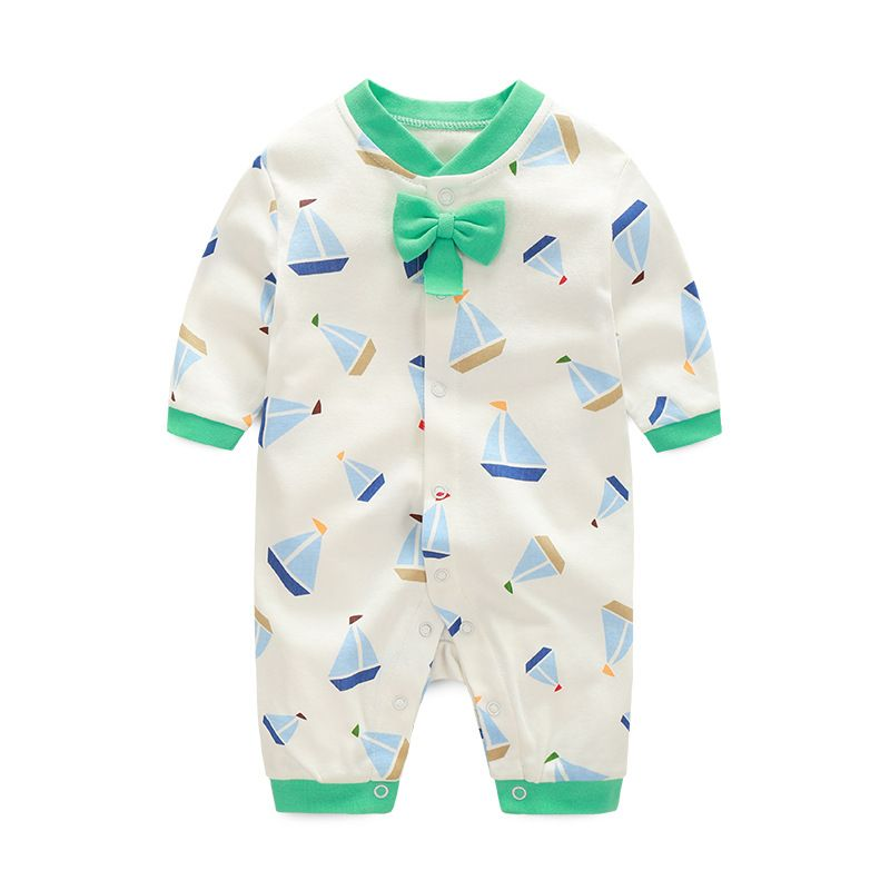 42158fb91 Click to Buy    Spring Summer 100% Cotton Baby Romper Bowknot ...