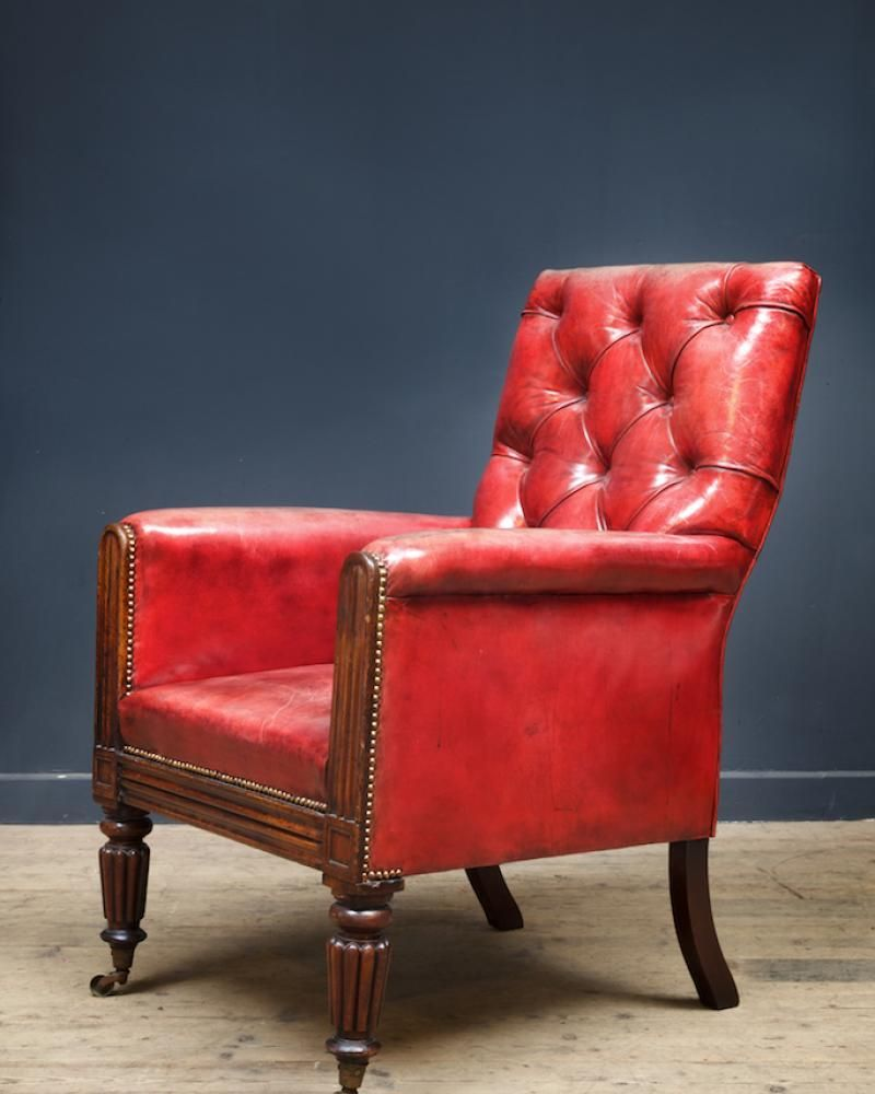 Captivating Red Leather Armchair , Antique Chairs U0026 Armchairs, Drew Pritchard