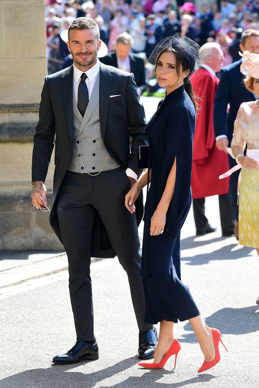 Hochzeitsgaste Meghan Und Harry Das Trugen Die Promis Zur Royal Wedding David Und Victoria Beckham Victoria Beckham Modestil