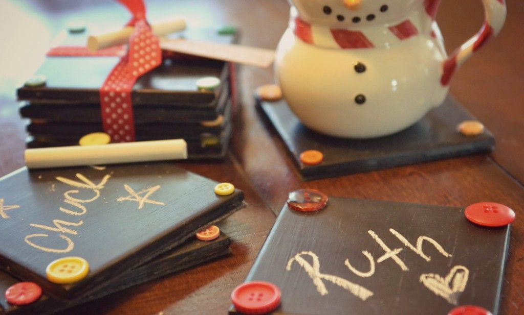 DIY Chalkboard Coasters Diy chalkboard, Chalkboards and Coasters