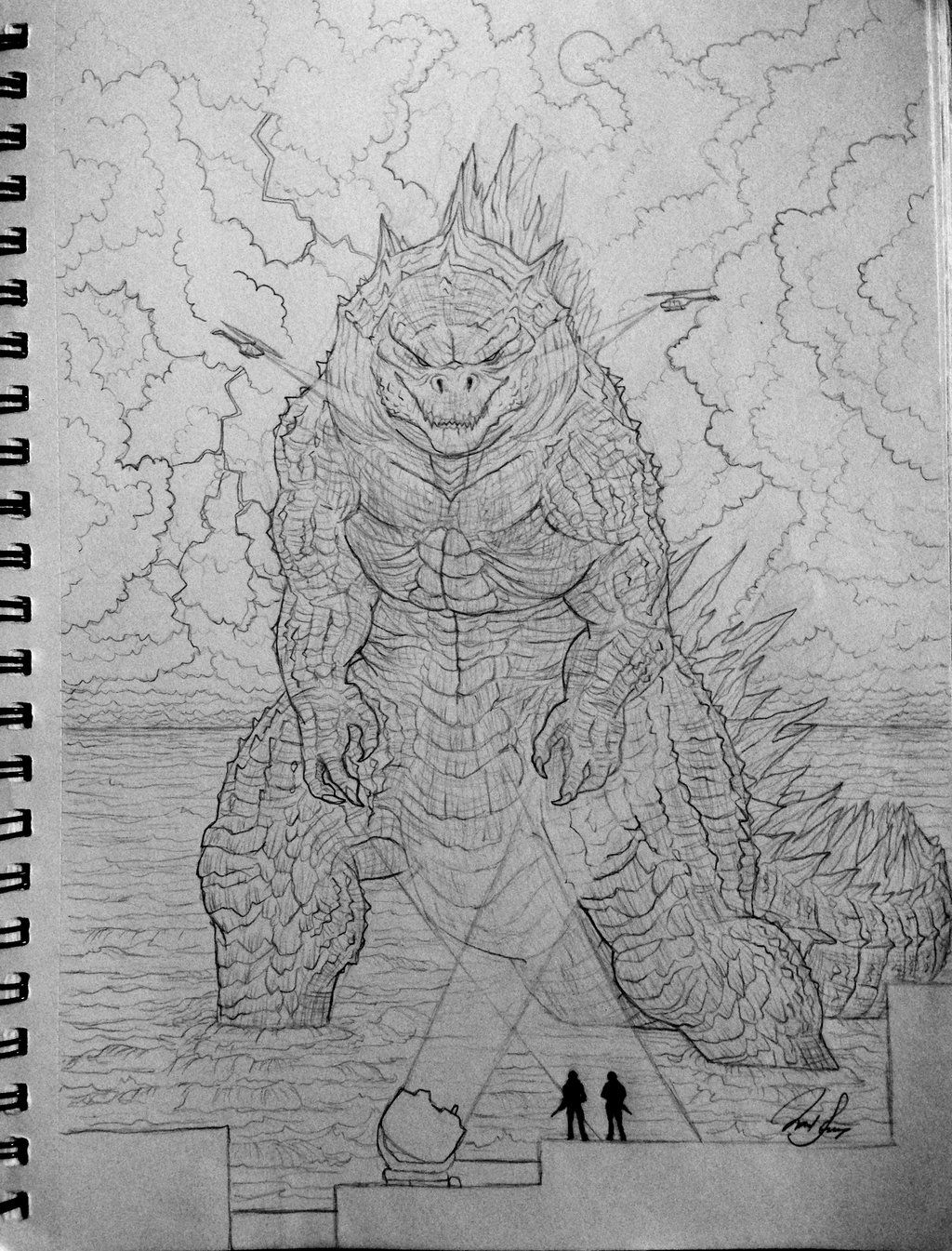 Godzilla 2014 by sooothisisart wow on deviantart in 2019