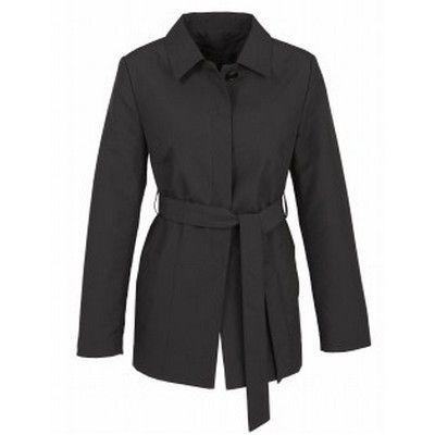 Ladies Corporate Trench Jacket Min 25 - A pure polyester jacket with a concealed button front jacket with waist tie. http://www.promosxchange.com.au/ladies-corporate-trench-jacket/p-9128.html