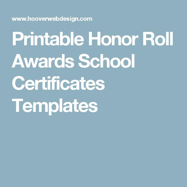 Printable honor roll awards school certificates templates printable honor roll awards school certificates templates yadclub Image collections