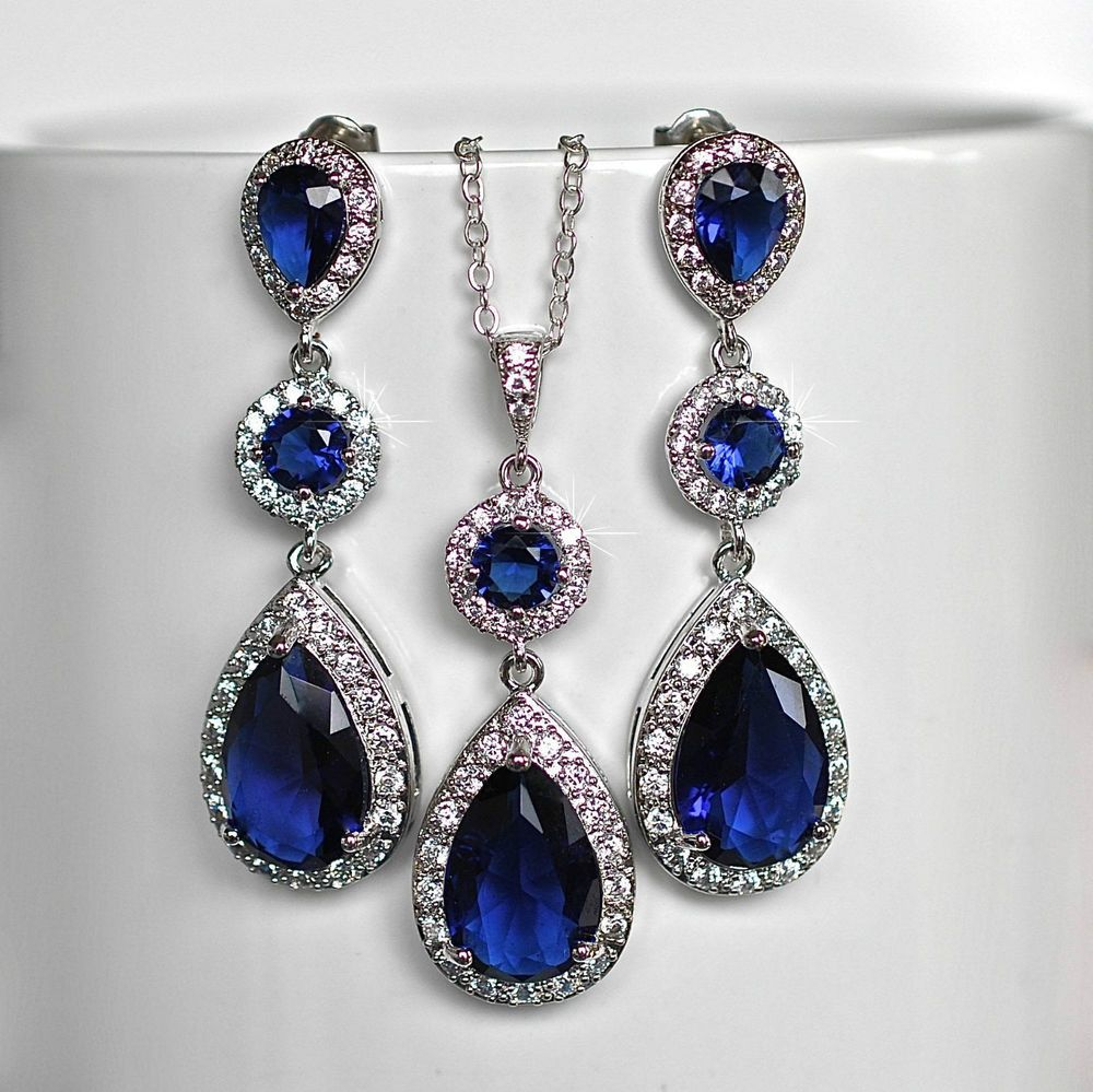 Details about Mecresh AAA+ Cubic Zirconia Bridal Necklace