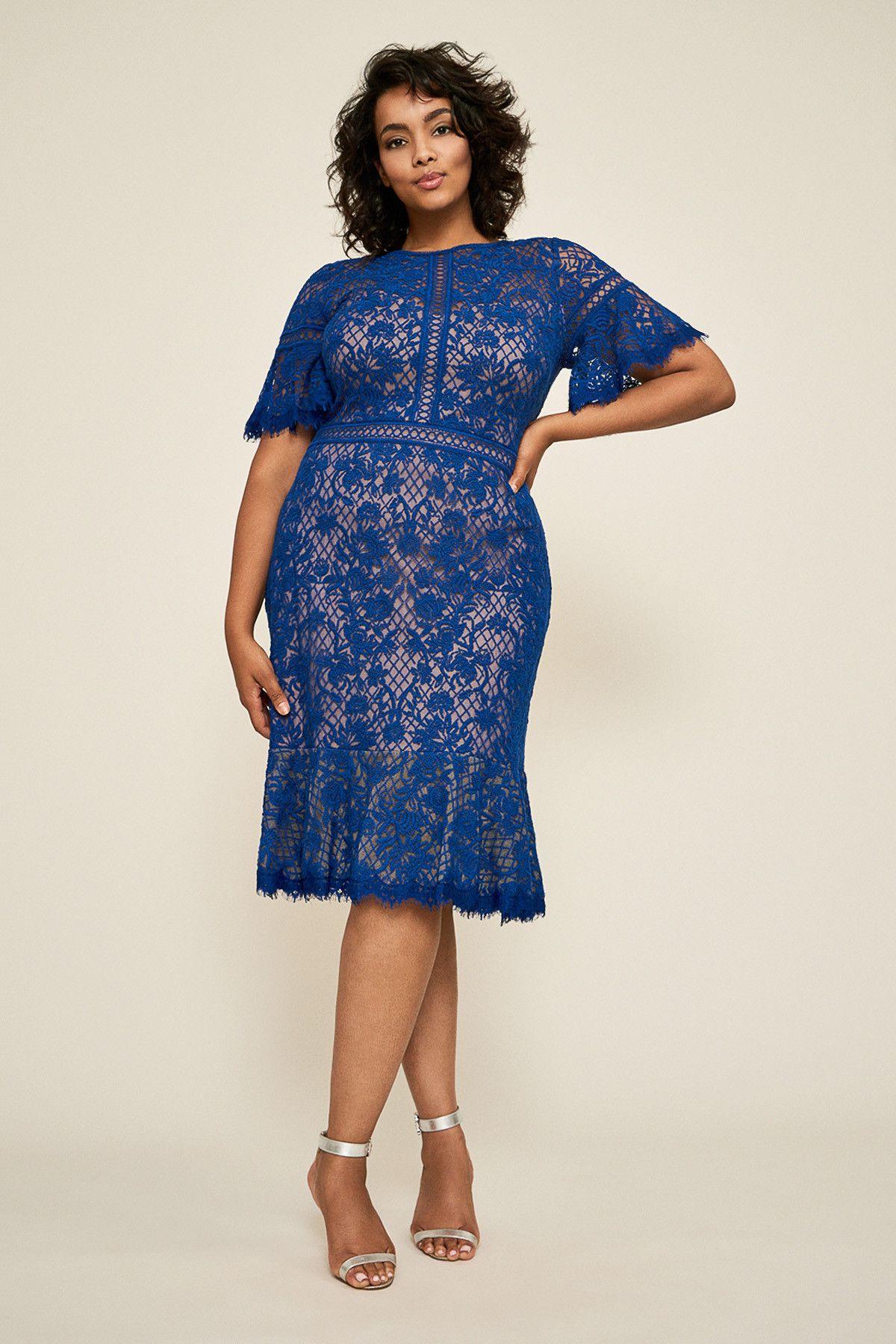 11335a154b0 Mirabelle Embroidered Dress - PLUS SIZE | Tadashi Shoji | Fashion ...