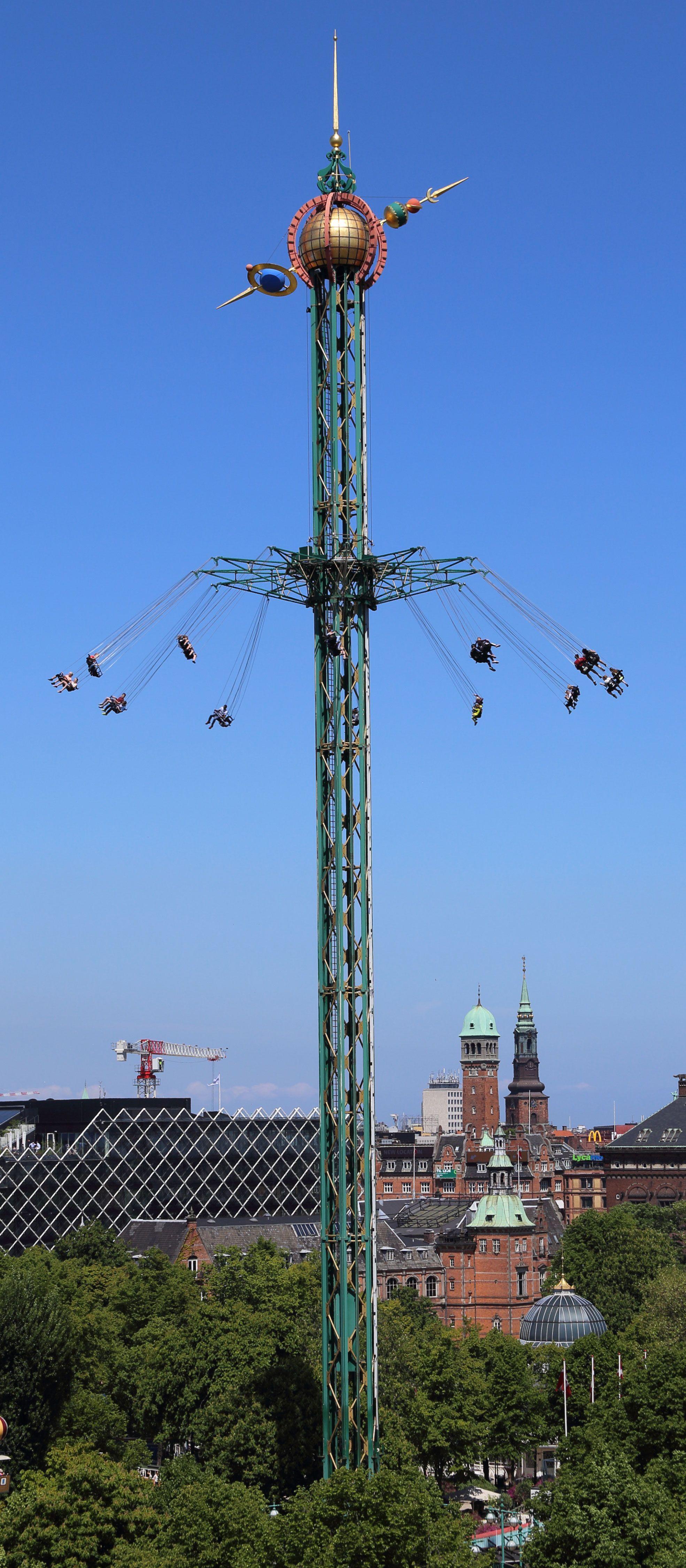 The Himmelskibet ride in Tivoli Gardens, Copenhagen