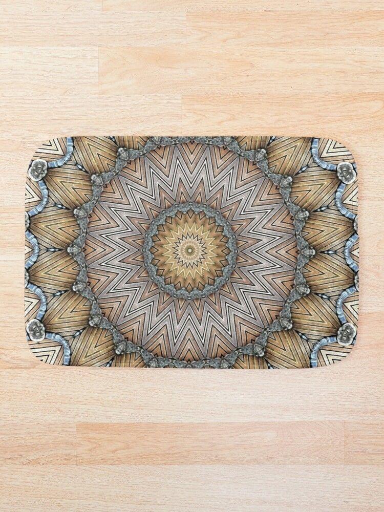 Bohemian mandala of joy: Relaxing and meditation mandala design. #bathmat #mandalabathmat #bathroomdecor #bohobathmat #cr6zym1nd #findyourthing