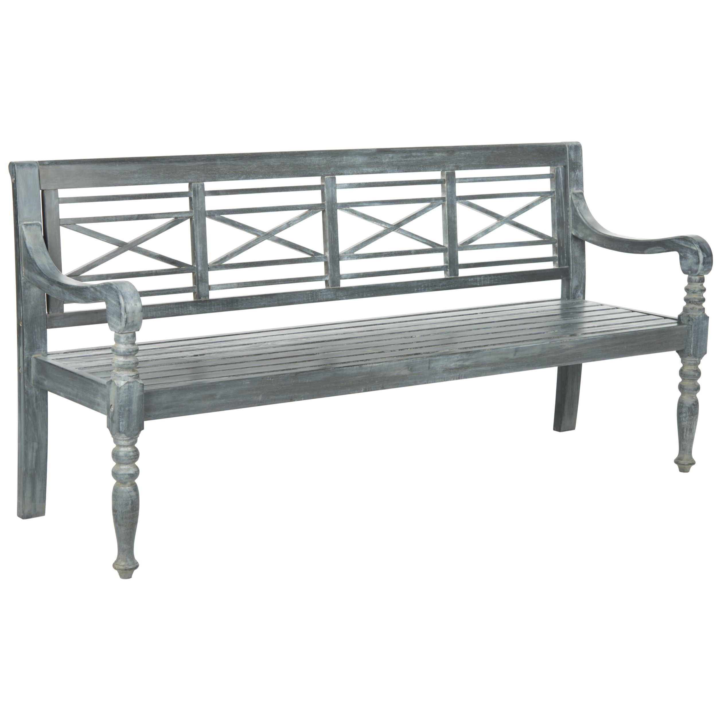 Awesome Safavieh Outdoor Living Karoo Ash Grey Acacia Wood Bench (PAT6704A), Patio  Furniture