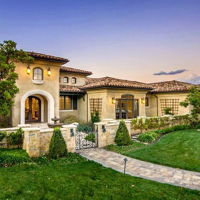 Exterior Tuscan Italian Gold Design Ideas, Pictures, Remodel and
