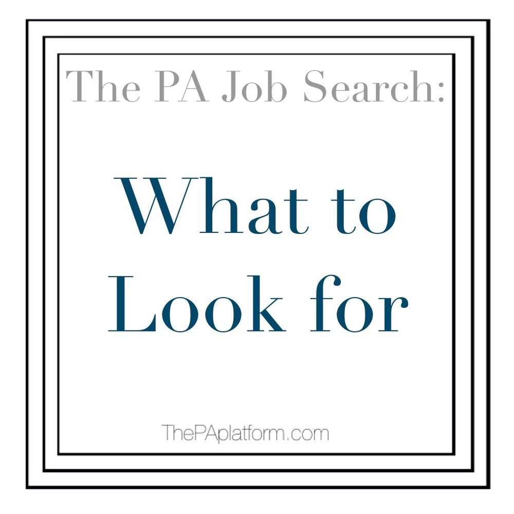 The PA Job Search What to Look For Pa jobs, Job search